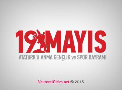 Vektörel Çizim   19 Mayıs Atatürk'ü Anma Gençlik ve Spor Bayramı