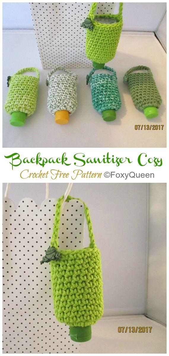 Hand Sanitizer Cozy Crochet Free Patterns Crochet Scrubbies