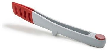 Elevate Large Tongs, Light Gray/Red modern-cooking-utensils