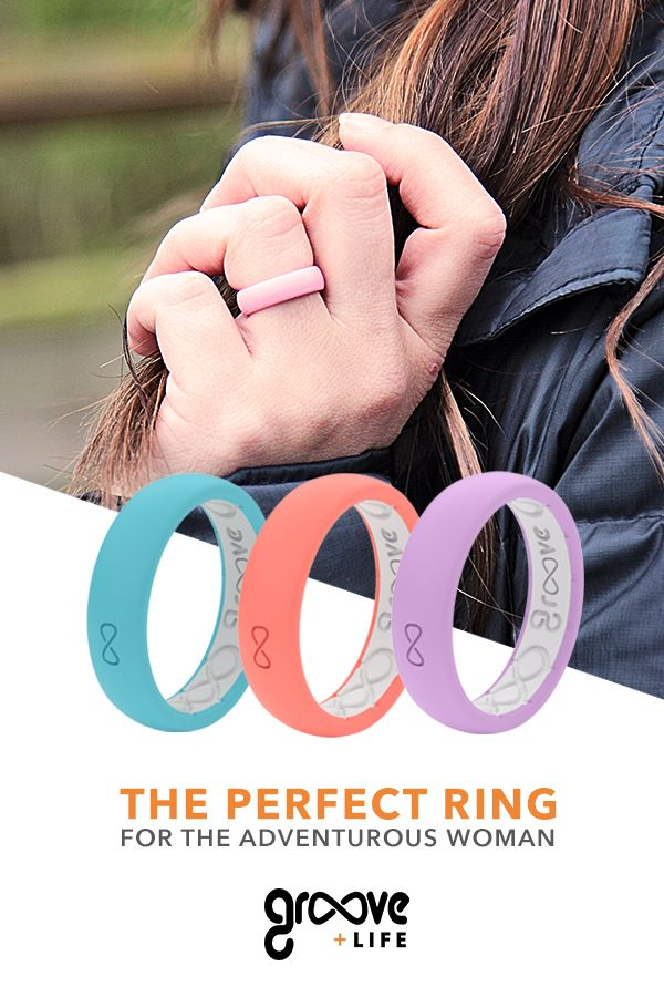 bf7f69c4b5005 Groove Women silicone wedding rings are perfect for the gym goer ...