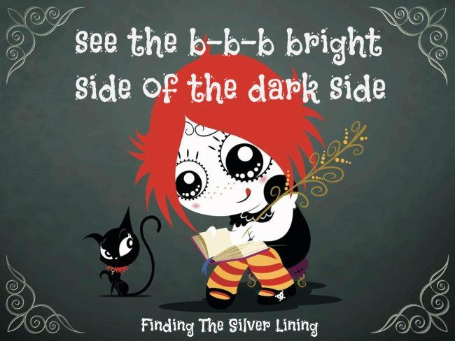 See the b-b-b bright side of the dark side! Ruby Gloom!