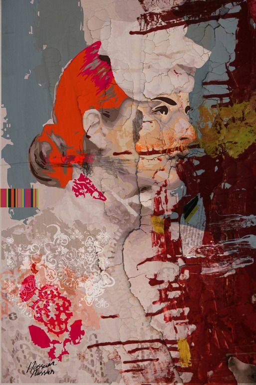 """Saatchi Online Artist: Hossam Hassan; Paint, 2012, Mixed Media """"Red Velvet"""""""