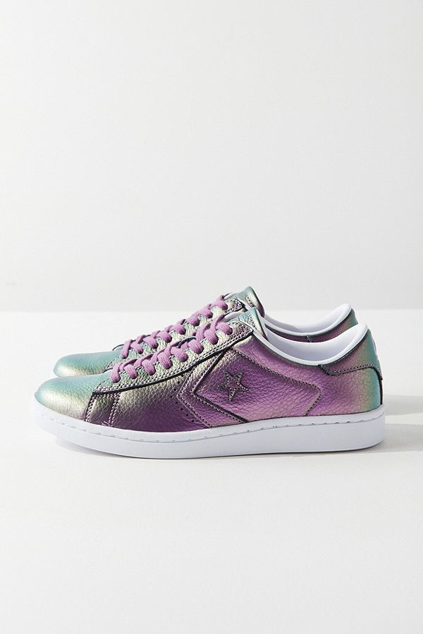 Slide View: 3: Converse Pro Leather LP Iridescent Leather Low Top Sneaker