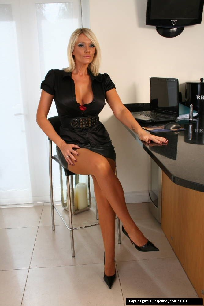 Cocktail Tight Skirts And Black Pantyhosed Women 10