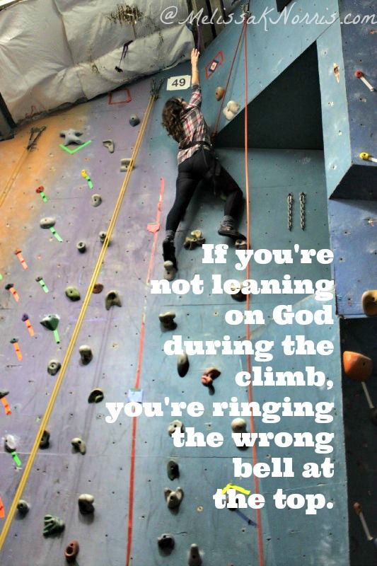 Are You Ringing the Wrong Bell? A lesson from rock climbing « Melissa K. Norris