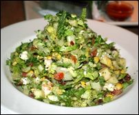 skinnylicious cheesecake factory chopped salad! Even hungry girl says its ok for you!