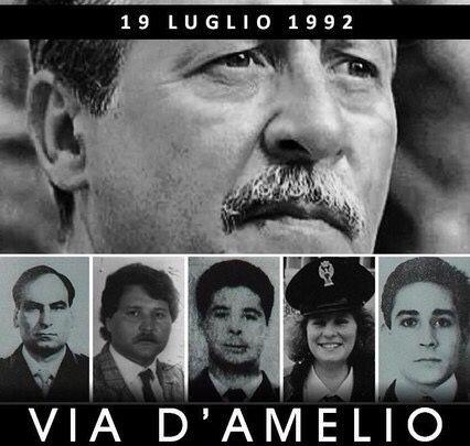 ITALIA - MAI dimenticati <3 Strage di via D'Amelio, persero la vita Paolo Borsellino e la sua scorta