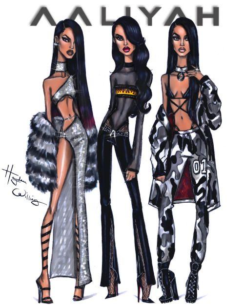 Aaliyah x3 by Hayden Williams - Happy Birthday Aaliyah!!