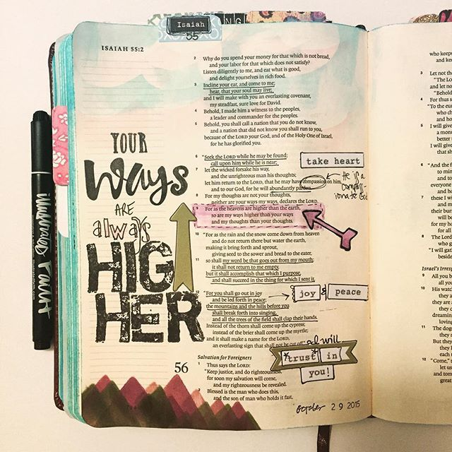 Isaiah 55:9 Jennifer LeBlanc @liveart_fully Instagram photos   Websta