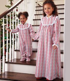 So classic.: Chasing Fireflies, Chase Fireflies,  Pj'S,  Jammi, Flannels Nightgowns, Christmas Gowns, Christmas Eve, Girls Clothing, Christmas Flannels