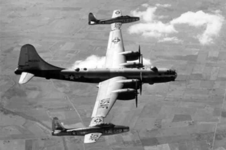COLD WAR WEIRDNESS: The Parasite Fighter concept was born in WWI, rediscovered between the wars and developed during the Cold War. Parasite aircraft are smaller fighter aircraft conveyed by a bomber to an operational area, then deployed to protect the larger aircraft. The F9C Sparrowhawks on the Akron are the most famous example, but the USAF attempted to field parasite fighters well into the jet age, until the idea was made obsolete by advances in mid-air refueling.