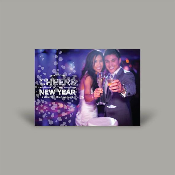 Cheers to the New Year 5x7 Christmas Card (10 pk)