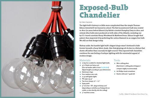 Exposed-Bulb Chandalier