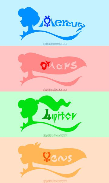 Sailor Moon S LOGO 内太阳系-金木水火星 | 譞翾