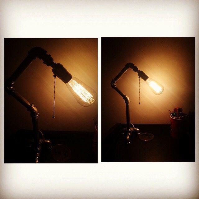 Industrial lamp #vintage #retro #pipe