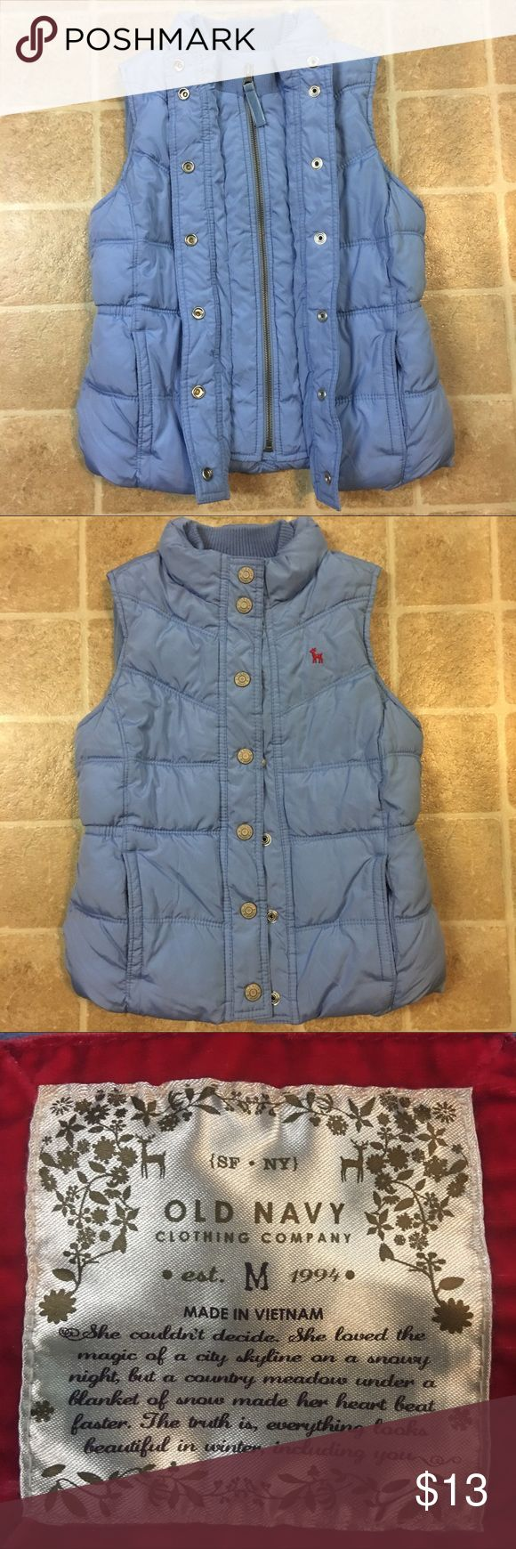 Old Navy kids jacket size medium Old Navy, girls baby blue, puffer jacket size medium. No stains or imperfections. Old Navy Jackets & Coats Puffers