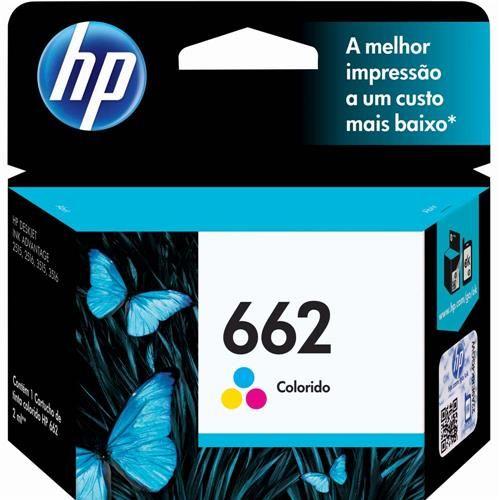 Cartucho de Tinta HP 662 Tricolor - CZ104AB