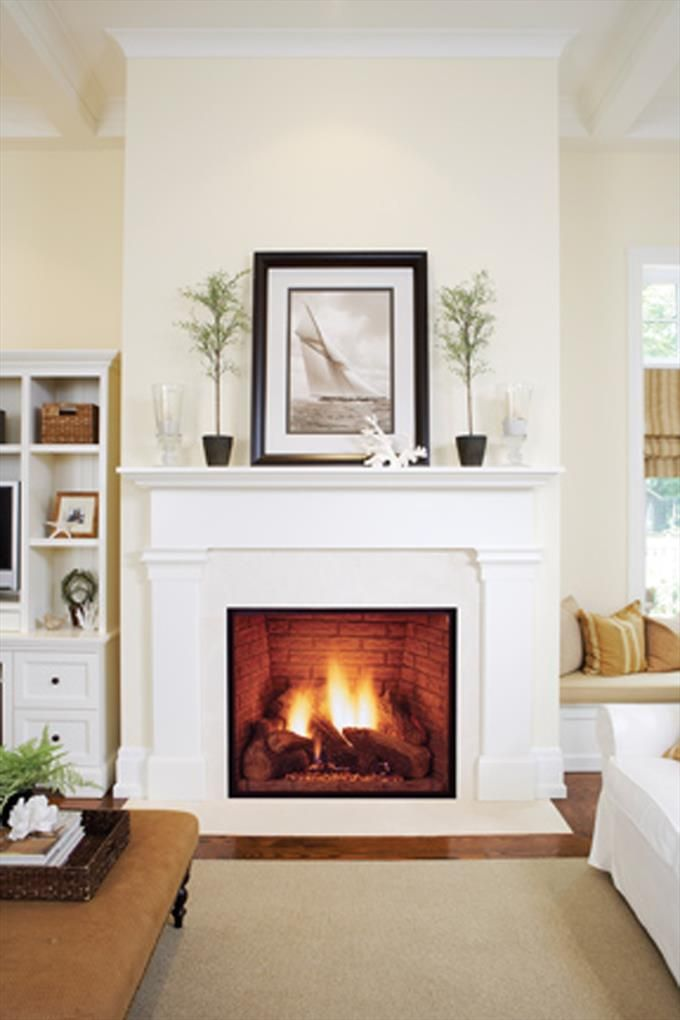 Monessen Hearth Traditional Fireplace with Picture Frame ...