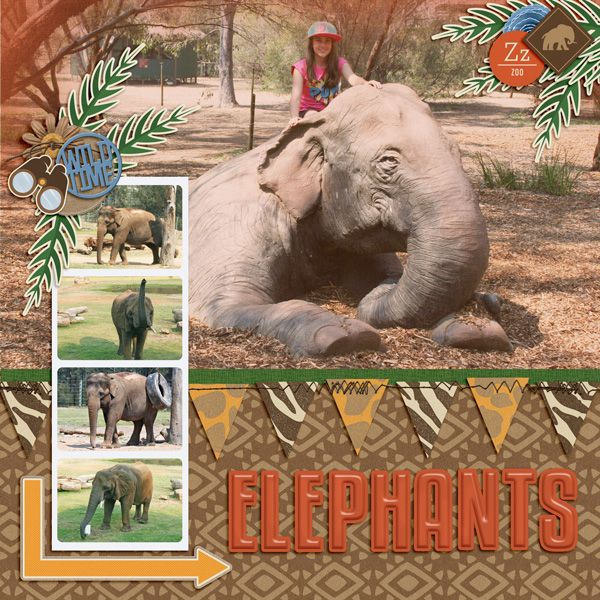 Go Wild Collection from Peppermint Creative #zoo #digiscrap #digitalscrapbook #layouts | @kirstiegai