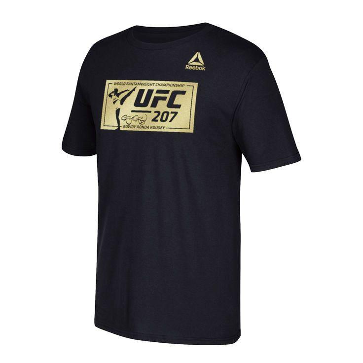 Ronda Rousey Reebok UFC 207 Box T-Shirt - Black - $22.39