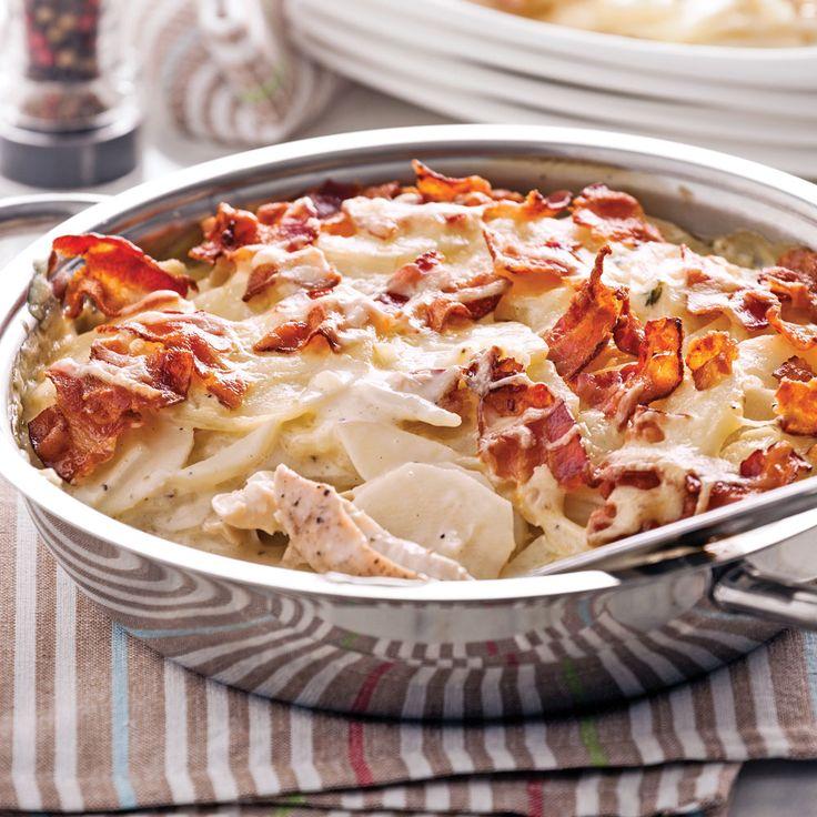 Repas complet cuit au four. Quelle valeur sûre pour un souper simplifié!  Pour en savoir plus sur ce fromage,cliquez ici!