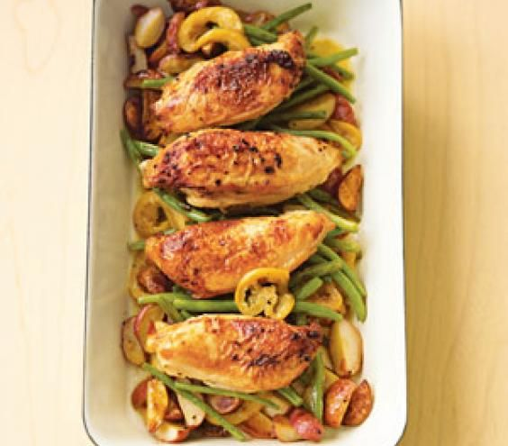 ... Chicken, Lemon Chicken, Green Beans, Lemon Garlic, Pan Roasted Chicken