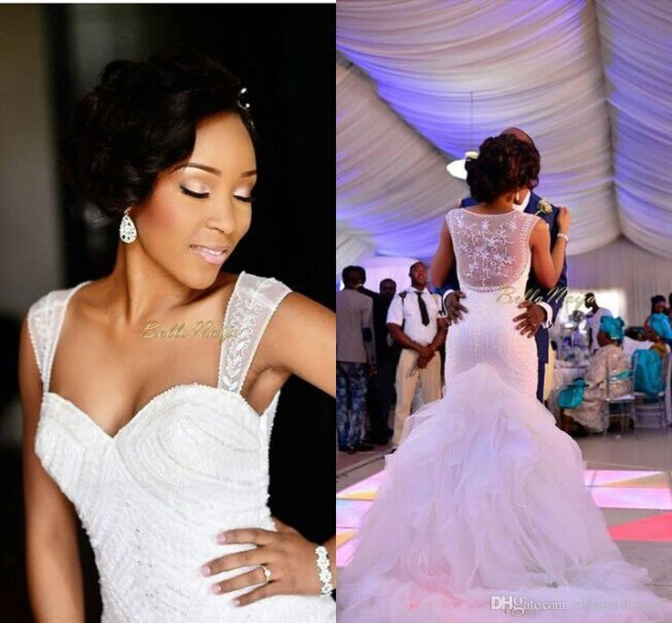 Modest Mermaid Bridal Gown Organza See Through Wedding Dresses 2015 Chapel Train Ruffles Cheap Bridal Gowns Custom Made Uk Wedding Dresses Vintage Bridal Gowns From Elegantdresses, $207.33| Dhgate.Com