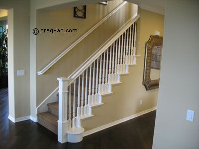 Painted Stair Handrail  All White