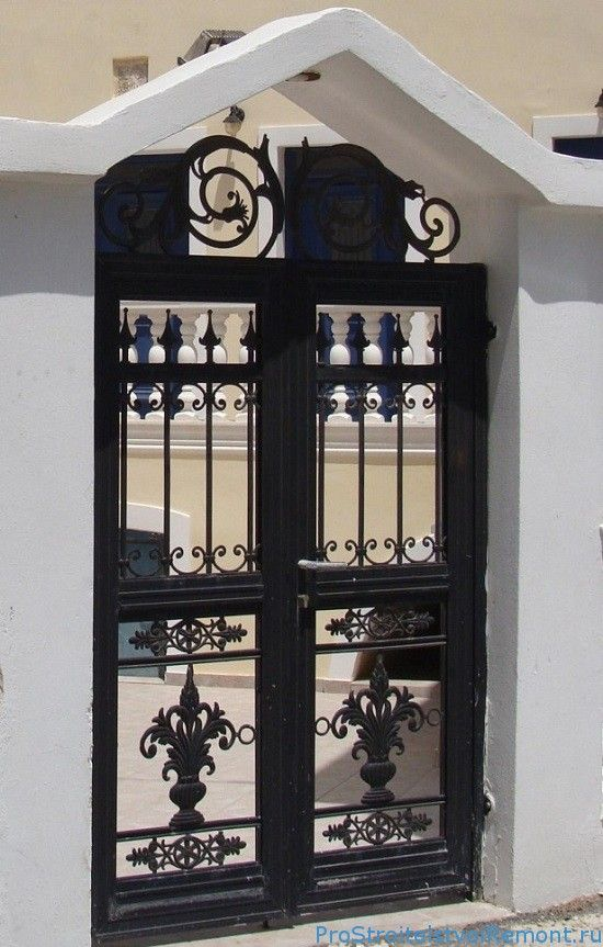 Декоративные металлические калитки для дома фото