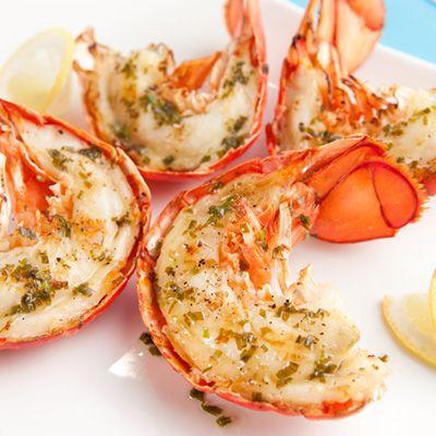 Queues de homard à l'estragon