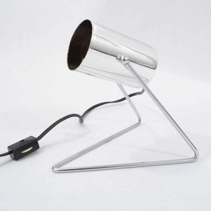 Vintage 1970s MID Century MODERN Spot Light MINI Table Desk LAMP Wire Base LBL #MidCenturyModern