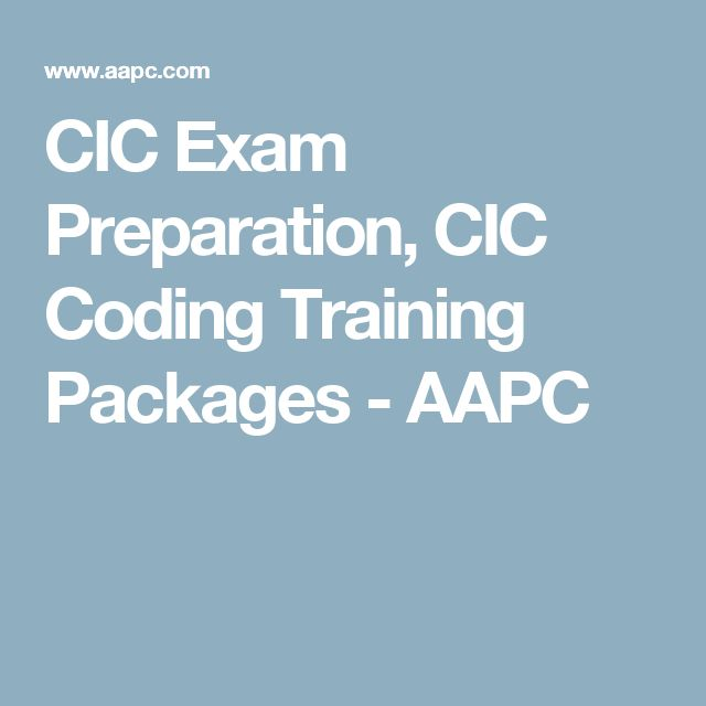 CIC Exam Preparation, CIC Coding Training Packages - AAPC