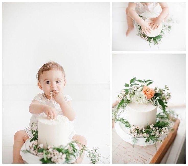 Baby Bohemian Cake Smash Photography | Smash the Cake Photoshoot by Miranda North | Baby Studio Photography Los Angeles and Orange County