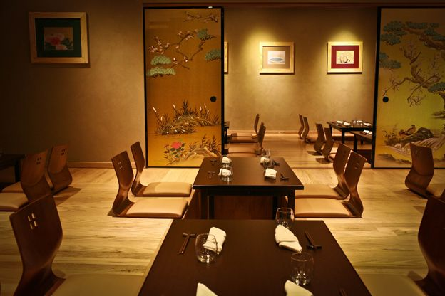 The restaurant is beautiful, with Japanese décor and windows along one side overlooking North Terrace.  Diners have the choice to sit at a normal table and chairs, or experience traditional Japanese eating in the separate Tatami room, where you will need to remove your shoes.
