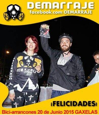 Ganador de la Rifa Demarraje en BiciArrancones Equipo Demarrajas #Demarraje #PisaPedalyDemarraje #ActitudDemarraje #BiciArrancones #Gaxelas #EquipoDemarraje www.facebook.com/Demarraje #ActitudCiclista #Bicicleta #Bici #Ciclistas #fixie #fixied #piñonfijo #singleSpeed #LasDemarrajas #demarrajas