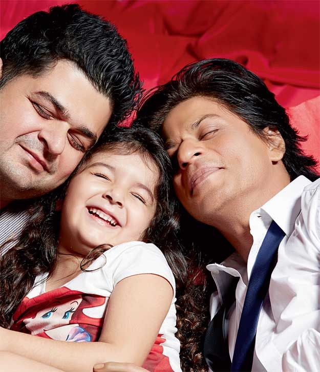 City Times - Sneak peek at bollywood celebrity photographer's calendar   Dabboo Ratnani and his daughter with Shah Rukh Khan