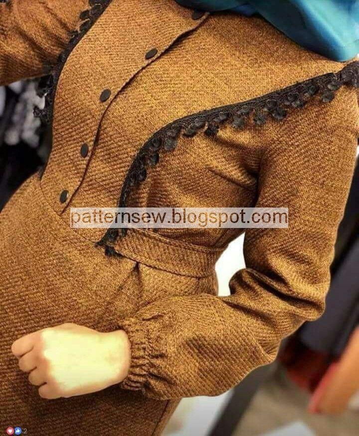 باترون مفصل لحجاب بنات شتوي - Pattern Sewing