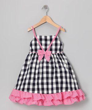 Loving this Gidget Loves Milo Navy & Pink Gingham Ruffle Dress - Infant & Toddler on #zulily! #zulilyfinds
