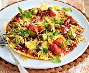 Turbo-Tortillapizza mit Salami