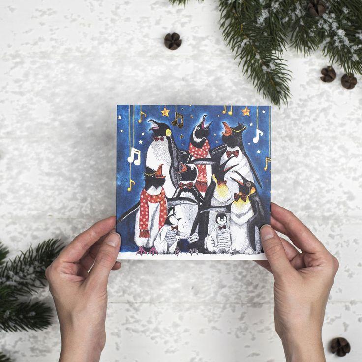 Set Of 5 'International Penguin Choir' Penguin Cards