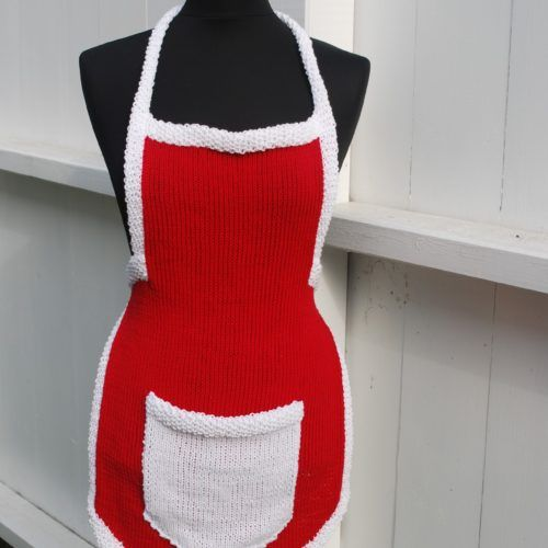 Pattern number 63. Knitted Christmas apron