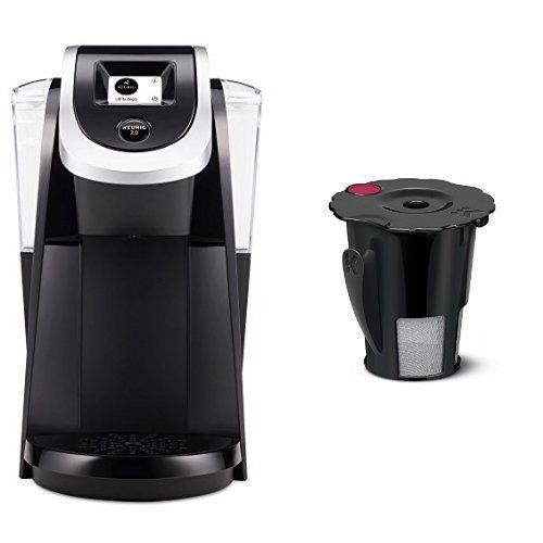 Keurig K250 2.0 Brewing System, Black and Keurig 119367 2.0 My K-Cup Reusable Coffee Filter, Small, Black (Updated Model) Bundle * A special product just for you. See it now! : Coffee Maker