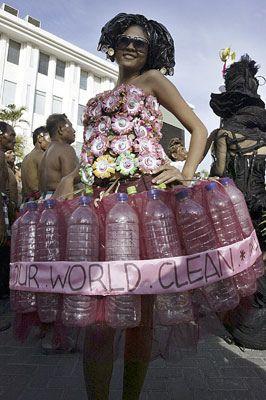 vestido y reciclado