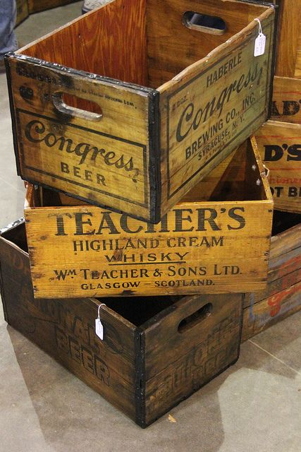 Vintage Crates...love these