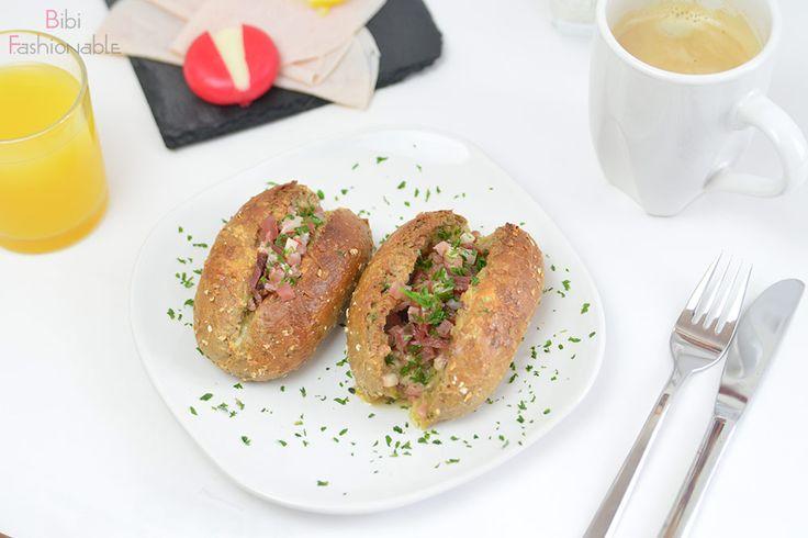 pikant gefüllte Frühstücksbrötchen