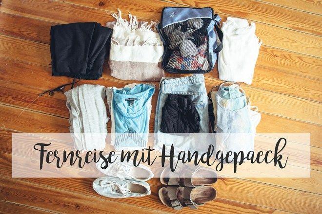 Weltreise Packliste für Frauen – für Handgepäck und Fernreisen