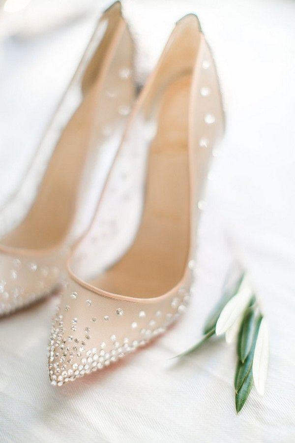Elegant Neutral Illusion Wedding Shoes Beautiful Wedding Shoes Bridal Shoes Bride Shoes