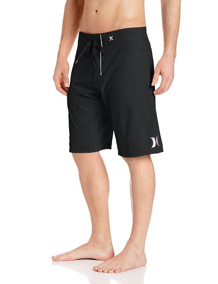 Hurley Mens Size 34 One And Only Phantom Lightweight Boardshort, Black