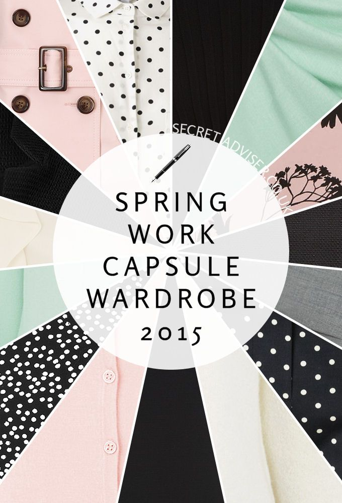 Spring Work Capsule Wardrobe 2015 - Pastel work capsule wardrobe for Spring 2015. I've specially designed it to suit any weather or event, and there are almost 150 possible outfit combinations!