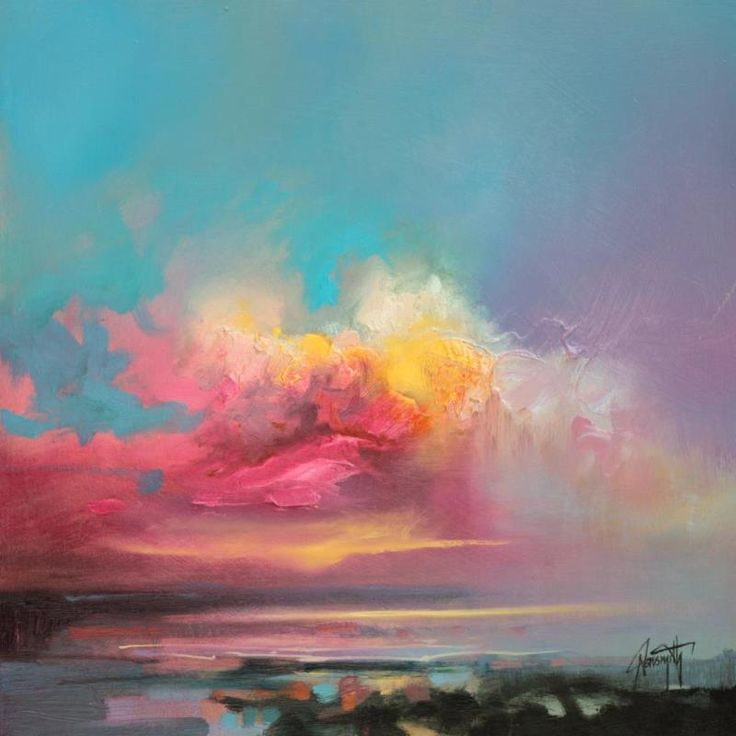Cumulus Consonance Study 2 Scottish skyscape oil painting by Scott Naismith